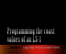 Programming Coast Values with a LogiStop controller